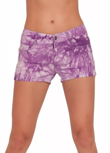 Tie Dye Washed Colored Summer Bootie Boyshorts Hot Trendy Chic Stretchy Shorts