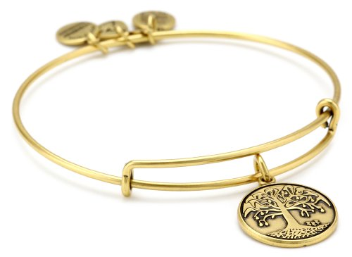 "Alex and Ani Bangle Bar ""Tree of Life"" Russian-Gold Expandable Bracelet"